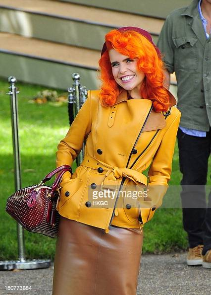 Paloma Faith attends Burberry's London Fashion Week catwalk show in Hyde Park on September 16 2013 in London England