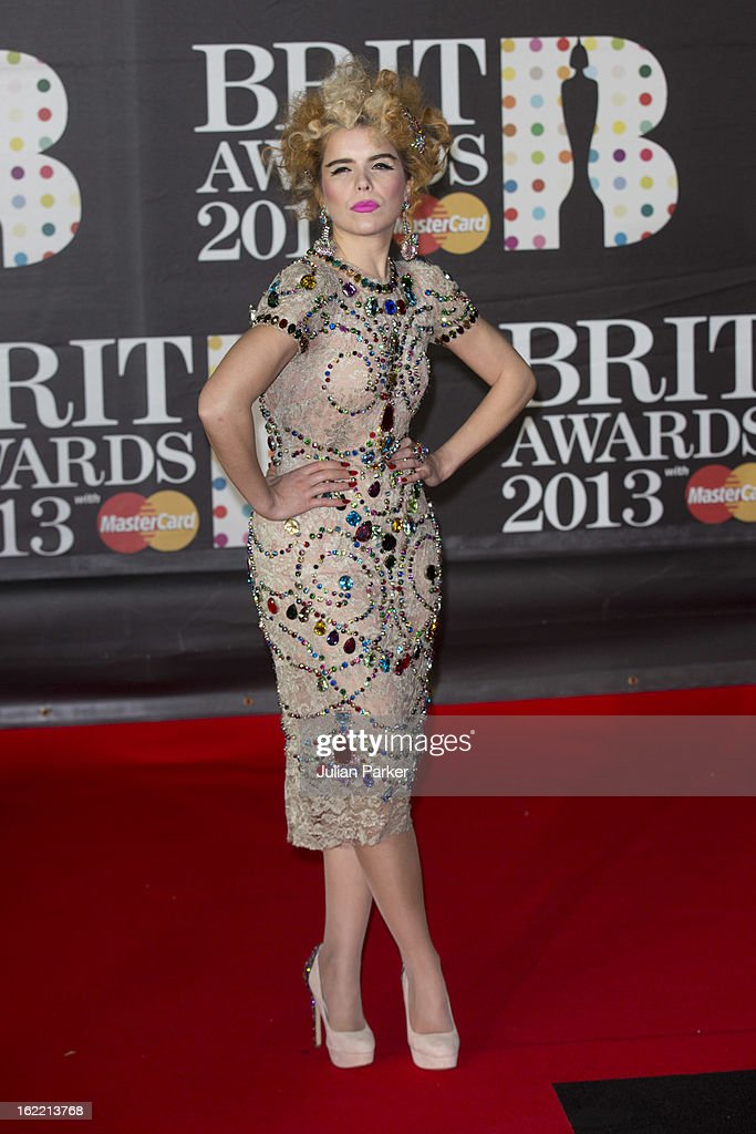 <a gi-track='captionPersonalityLinkClicked' href=/galleries/search?phrase=Paloma+Faith&family=editorial&specificpeople=4214118 ng-click='$event.stopPropagation()'>Paloma Faith</a> attends the Brit Awards 2013 at the 02 Arena on February 20, 2013 in London, England.