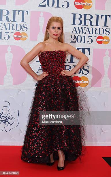 Paloma Faith attends the BRIT Awards 2015 at The O2 Arena on February 25 2015 in London England
