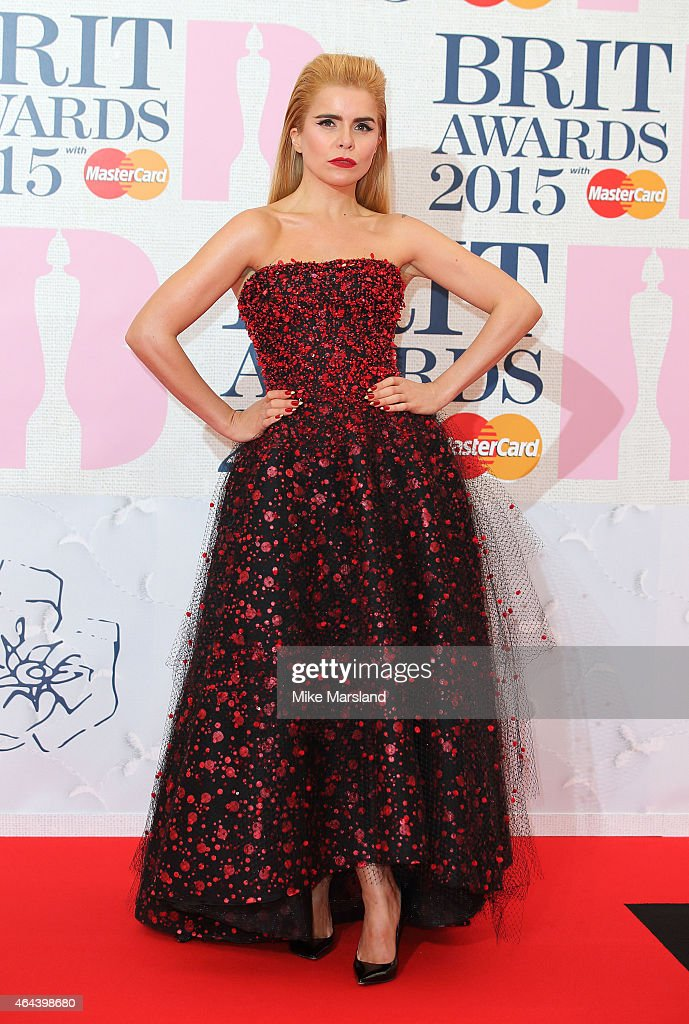 <a gi-track='captionPersonalityLinkClicked' href=/galleries/search?phrase=Paloma+Faith&family=editorial&specificpeople=4214118 ng-click='$event.stopPropagation()'>Paloma Faith</a> attends the BRIT Awards 2015 at The O2 Arena on February 25, 2015 in London, England.