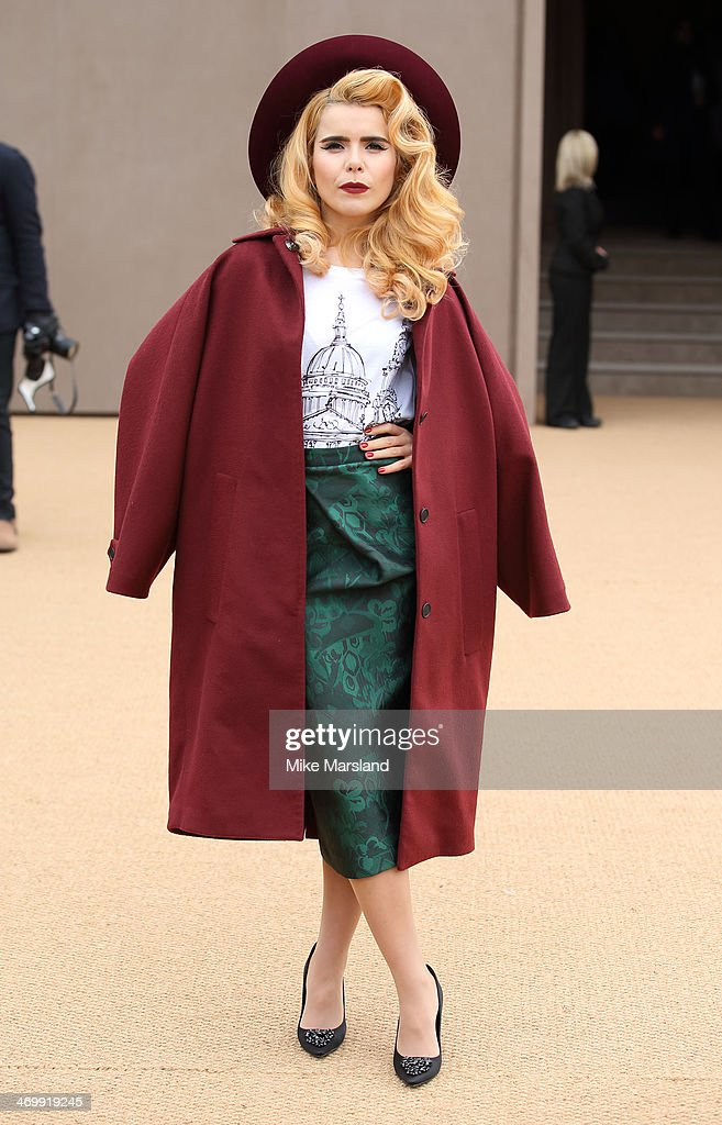 <a gi-track='captionPersonalityLinkClicked' href=/galleries/search?phrase=Paloma+Faith&family=editorial&specificpeople=4214118 ng-click='$event.stopPropagation()'>Paloma Faith</a> attends the Burberry Prorsum show at London Fashion Week AW14 at on February 17, 2014 in London, England.