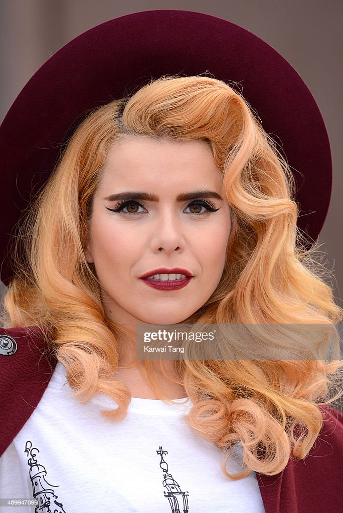Paloma Faith attends the Burberry Prorsum show at London Fashion Week AW14 at Kensington Gardens on February 17, 2014 in London, England.