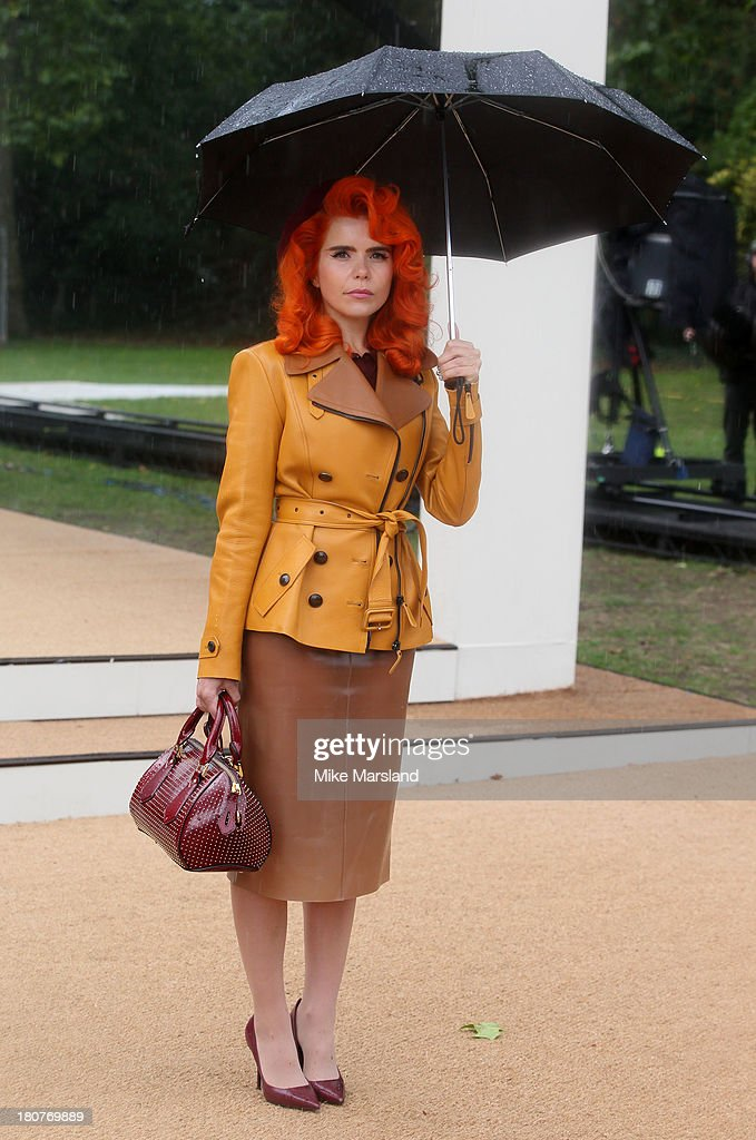 <a gi-track='captionPersonalityLinkClicked' href=/galleries/search?phrase=Paloma+Faith&family=editorial&specificpeople=4214118 ng-click='$event.stopPropagation()'>Paloma Faith</a> attends the Burberry Prorsum show during London Fashion Week SS14 at Kensington Gardens on September 16, 2013 in London, England.