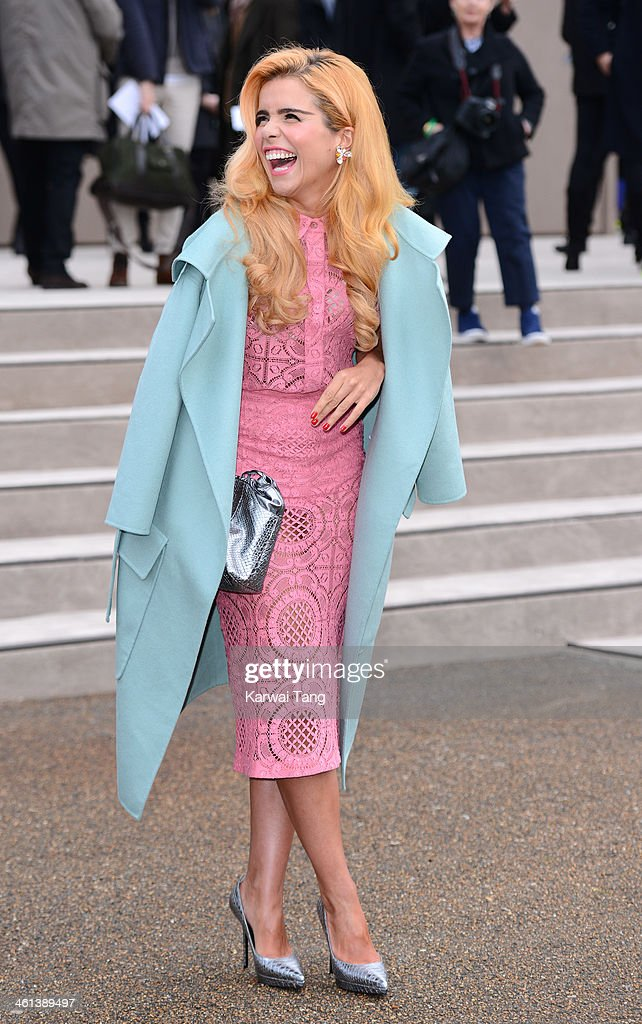 <a gi-track='captionPersonalityLinkClicked' href=/galleries/search?phrase=Paloma+Faith&family=editorial&specificpeople=4214118 ng-click='$event.stopPropagation()'>Paloma Faith</a> attends the Burberry Prorsum show during The London Collections: Men Autumn/Winter 2014 held at Kensington Gardens on January 8, 2014 in London, England.