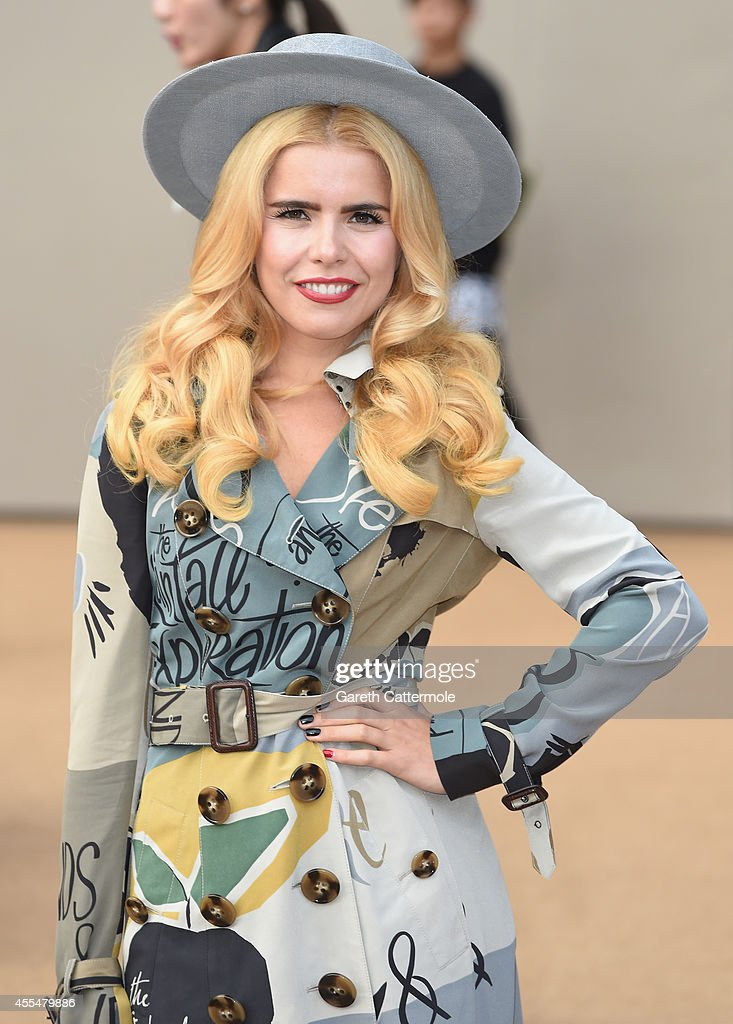 Paloma Faith attends the Burberry Womenswear SS15 show during London Fashion Week at Kensington Gardens on September 15, 2014 in London, England.
