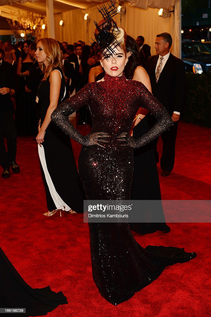 Paloma Faith attends the Costume Institute Gala for the 'PUNK: Chaos to Couture' exhibition at the Metropolitan Museum of Art on May 6, 2013 in New York City.