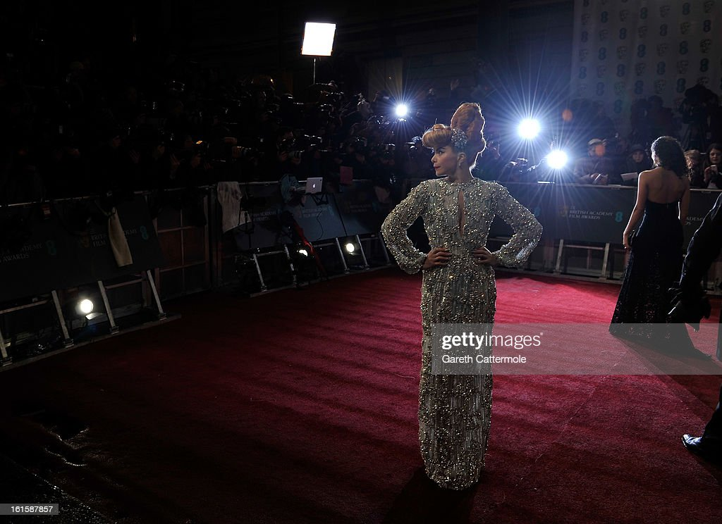 Paloma Faith attends the EE British Academy Film Awards at The Royal Opera House on February 10, 2013 in London, England.