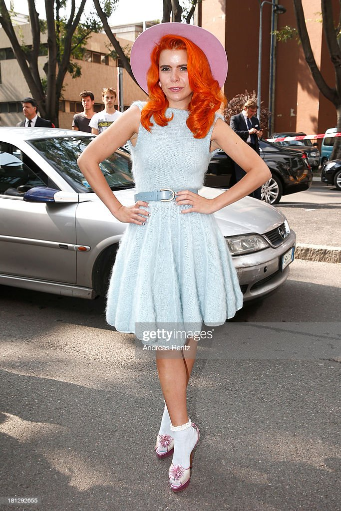 <a gi-track='captionPersonalityLinkClicked' href=/galleries/search?phrase=Paloma+Faith&family=editorial&specificpeople=4214118 ng-click='$event.stopPropagation()'>Paloma Faith</a> attends the Emporio Armani show as a part of Milan Fashion Week Womenswear Spring/Summer 2014 on September 20, 2013 in Milan, Italy.