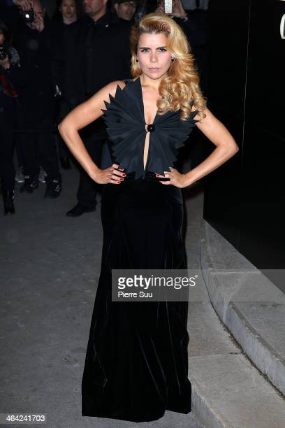 Paloma Faith attends the Giorgio Armani Prive show as part of Paris Fashion Week Haute Couture Spring/Summer 2014> on January 21 2014 in Paris France