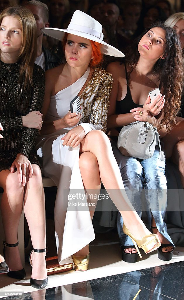 <a gi-track='captionPersonalityLinkClicked' href=/galleries/search?phrase=Paloma+Faith&family=editorial&specificpeople=4214118 ng-click='$event.stopPropagation()'>Paloma Faith</a> attends the Julien Macdonald show at London Fashion Week SS14 on September 14, 2013 in London, England.
