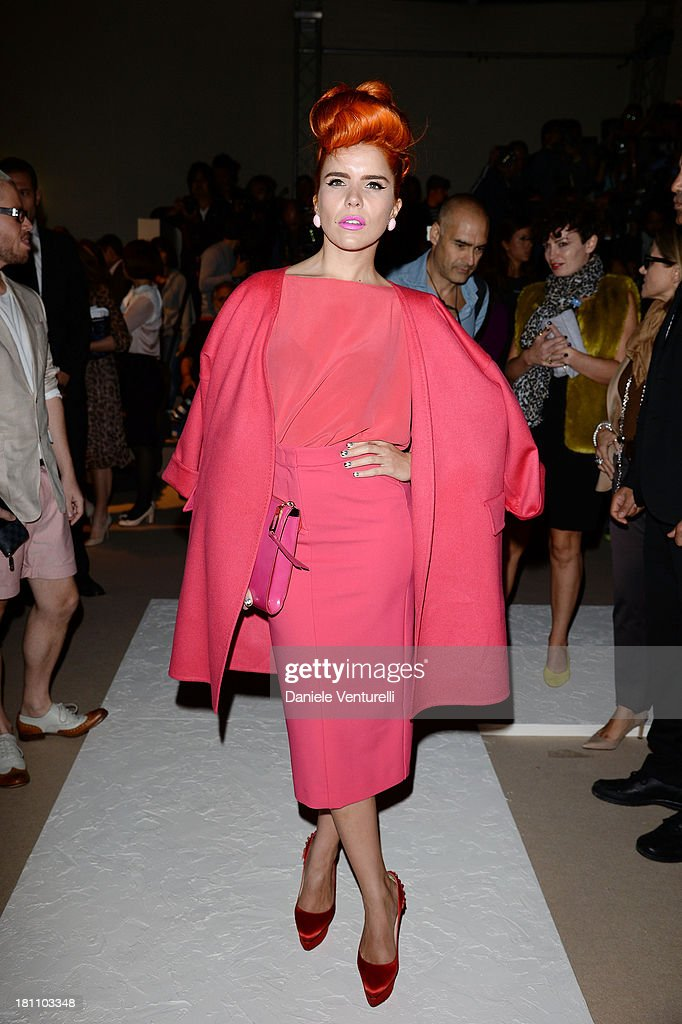 Paloma Faith attends the Max Mara show as a part of Milan Fashion Week Womenswear Spring/Summer 2014 on September 19, 2013 in Milan, Italy.