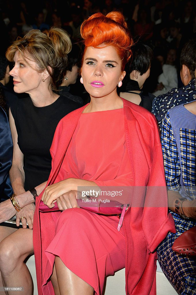 <a gi-track='captionPersonalityLinkClicked' href=/galleries/search?phrase=Paloma+Faith&family=editorial&specificpeople=4214118 ng-click='$event.stopPropagation()'>Paloma Faith</a> attends the Max Mara show as a part of Milan Fashion Week Womenswear Spring/Summer 2014 on September 19, 2013 in Milan, Italy.