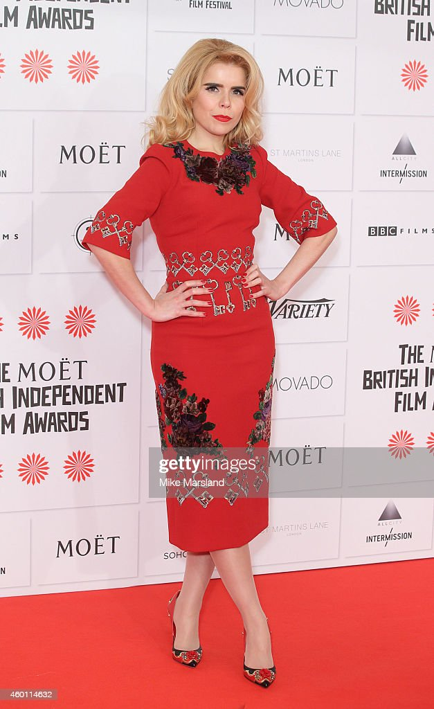 <a gi-track='captionPersonalityLinkClicked' href=/galleries/search?phrase=Paloma+Faith&family=editorial&specificpeople=4214118 ng-click='$event.stopPropagation()'>Paloma Faith</a> attends the Moet British Independent Film Awards at Old Billingsgate Market on December 7, 2014 in London, England.