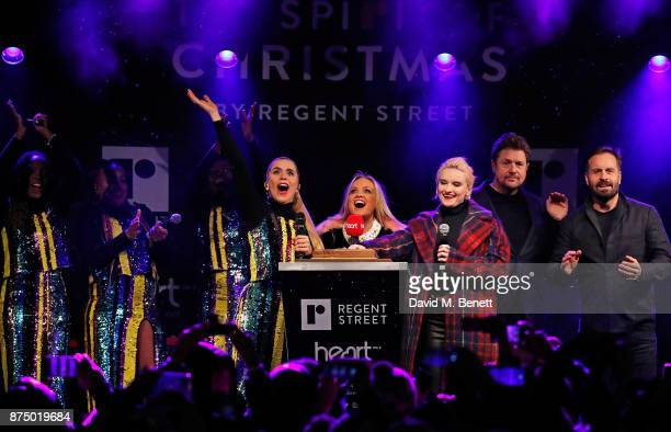 Paloma Faith Emma Bunton Grace Chatto Michael Ball and Alfie Boe attend the Regent Street Christmas Lights switch on event with Heart FM on November...