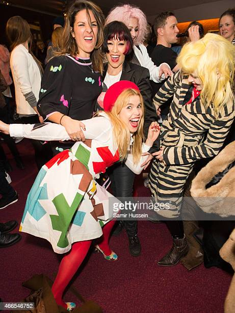 Paloma Faith Lliana Bird Saffron Lyndell Mansfield and Pam Hogg attend a private view of the Noel Fielding art exhibition 'He Wore Dreams Around...
