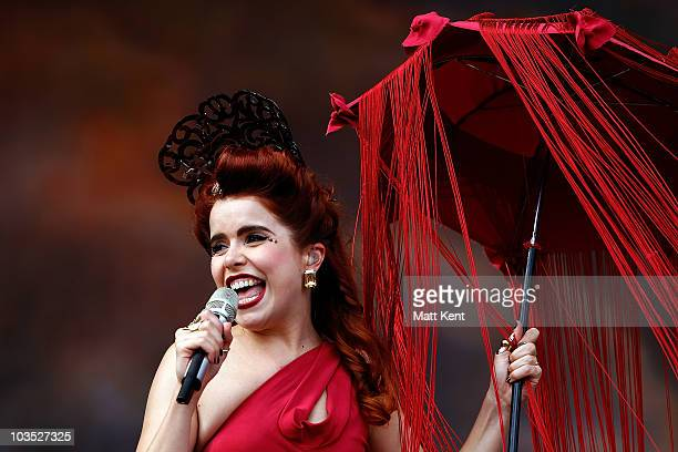 Paloma Faith performs at day one of V Festival at Hylands Park on August 21 2010 in Chelmsford England