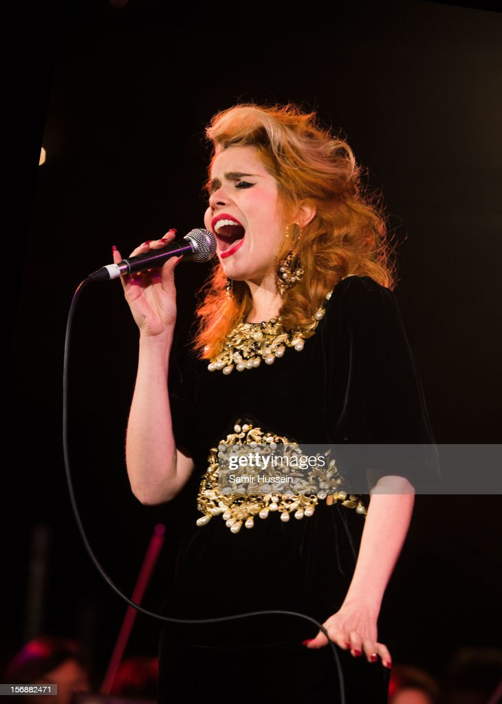 <a gi-track='captionPersonalityLinkClicked' href=/galleries/search?phrase=Paloma+Faith&family=editorial&specificpeople=4214118 ng-click='$event.stopPropagation()'>Paloma Faith</a> performs at the 'All Our Favourite Things' concert at the Union Chapel in aid of Noah's Ark Children's Hospice on November 23, 2012 in London, England.