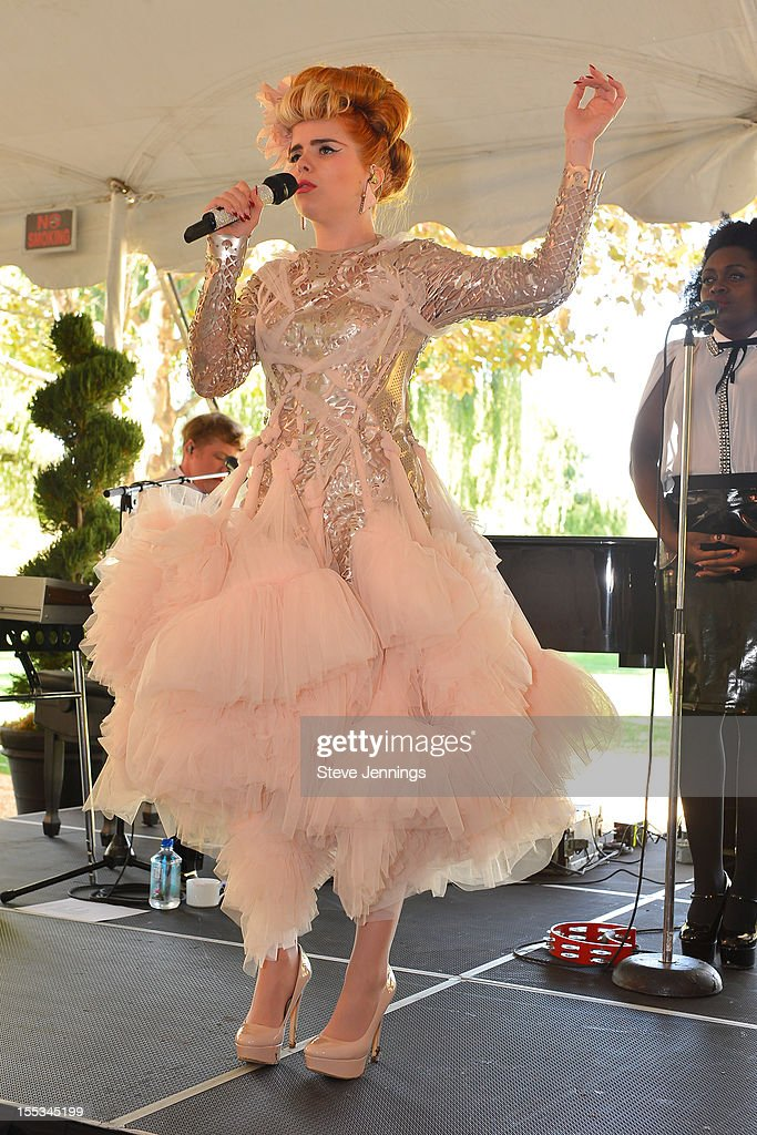 Paloma Faith performs at the Sutter Home Winery at Live In The Vineyard on November 2, 2012 in Napa, California.
