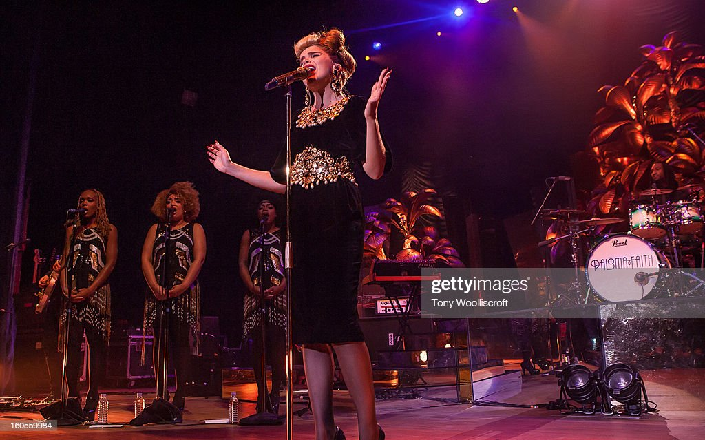 Paloma Faith performs at Wolverhampton Civic Hall on February 2, 2013 in Wolverhampton, England.