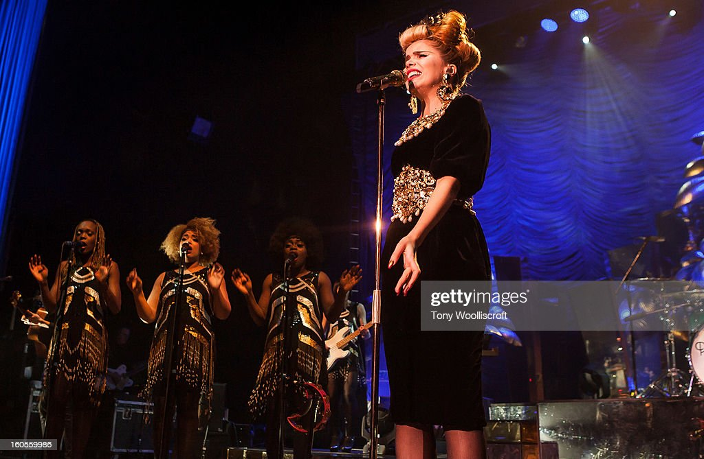 <a gi-track='captionPersonalityLinkClicked' href=/galleries/search?phrase=Paloma+Faith&family=editorial&specificpeople=4214118 ng-click='$event.stopPropagation()'>Paloma Faith</a> performs at Wolverhampton Civic Hall on February 2, 2013 in Wolverhampton, England.