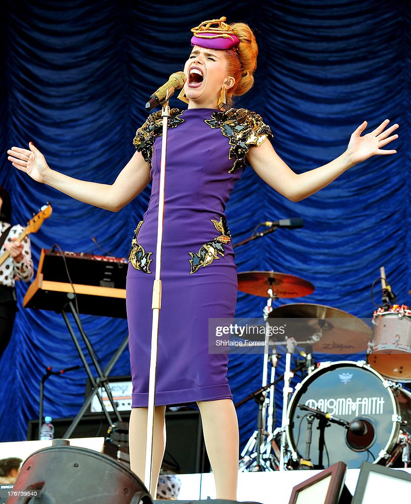 Paloma Faith performs on day 2 of the V Festival at Weston Park on August 18, 2013 in Stafford, England.