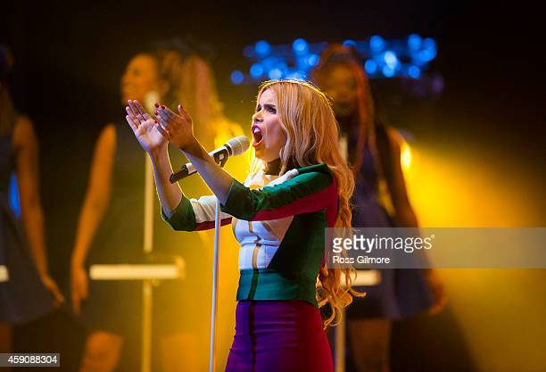 Paloma Faith performs on stage at SECC on November 16 2014 in Glasgow United Kingdom