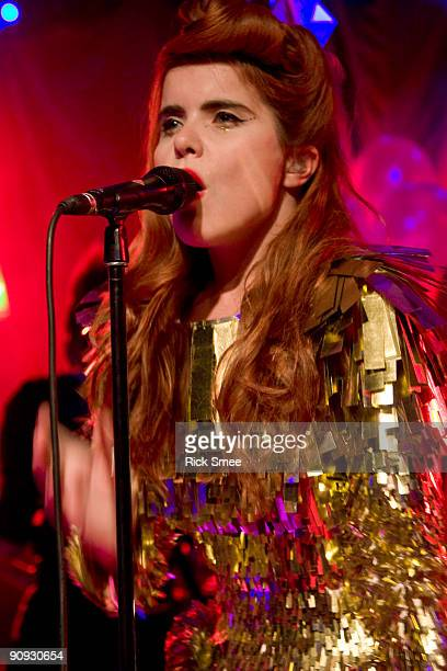 Paloma Faith performs on stage at the Scala on September 17 2009 in London England