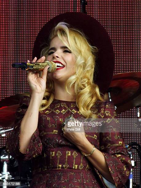 Paloma Faith performs on stage for BBC Radio 2 Live In The Park at Hyde Park on September 14 2014 in London United Kingdom