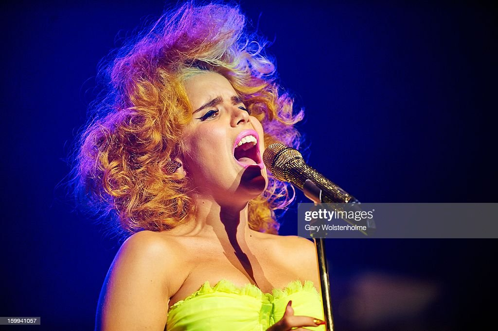 <a gi-track='captionPersonalityLinkClicked' href=/galleries/search?phrase=Paloma+Faith&family=editorial&specificpeople=4214118 ng-click='$event.stopPropagation()'>Paloma Faith</a> performs on stage in concert at Manchester Apollo on January 23, 2013 in Manchester, England.