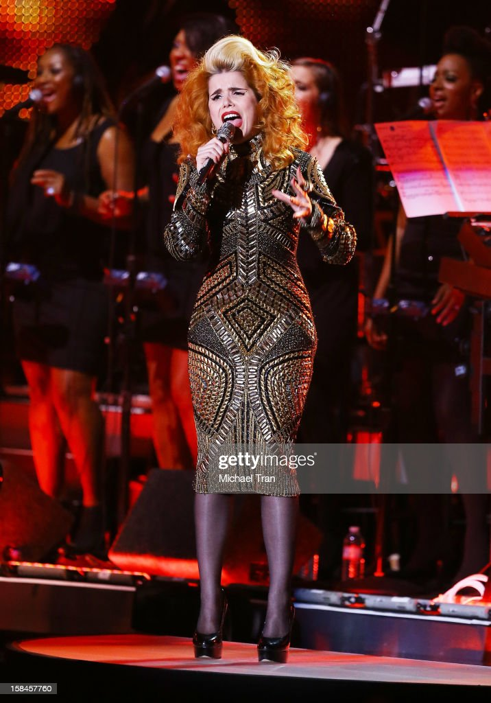 Paloma Faith performs onstage at the 'VH1 Divas' show held at The Shrine Auditorium on December 16, 2012 in Los Angeles, California.