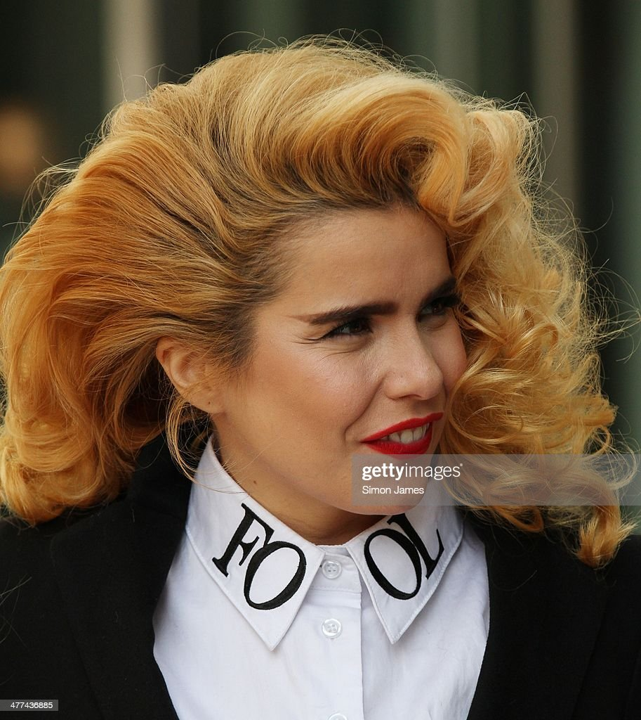 <a gi-track='captionPersonalityLinkClicked' href=/galleries/search?phrase=Paloma+Faith&family=editorial&specificpeople=4214118 ng-click='$event.stopPropagation()'>Paloma Faith</a> sighted leaving the BBC studios on March 9, 2014 in London, England.