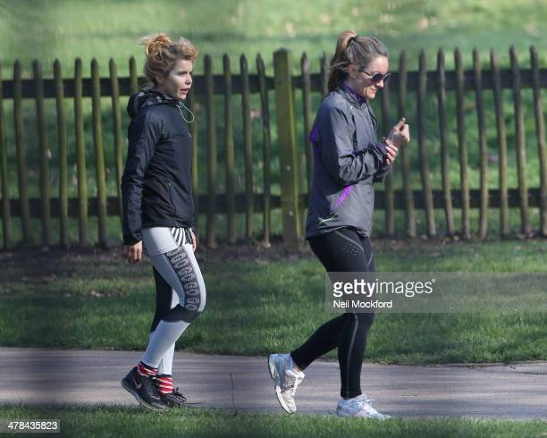 Paloma Faith sighted working out in the park on March 12 2014 in London England