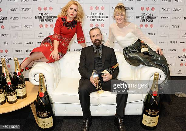 Paloma Faith Stephen Rennicks winner of the Best Technical Achievement award for 'Frank' and Edith Bowman pose at The Moet British Independent Film...