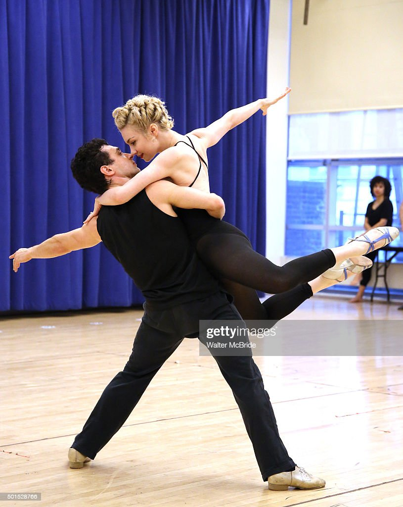 Paloma Garcia Lee and Rick Faugno during the the press preview of 'American Dance Machine for the TwentyFirst Century' at The New 42nd Street Studios...