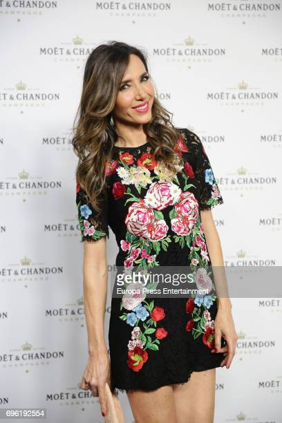 Paloma Lago attends the Moet Chandon Record Guinness Party at La Casa Encendida on June 14 2017 in Madrid Spain Moet Chandon makes a pyramid with...