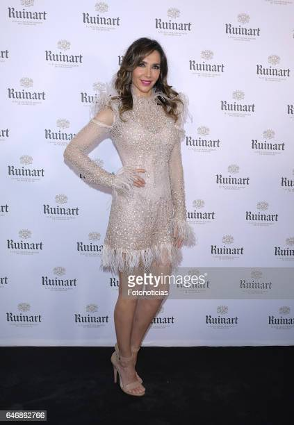 Paloma Lago attends the Ruinart Arco Fair closing party at Marlborough Art Gallery on March 1 2017 in Madrid Spain