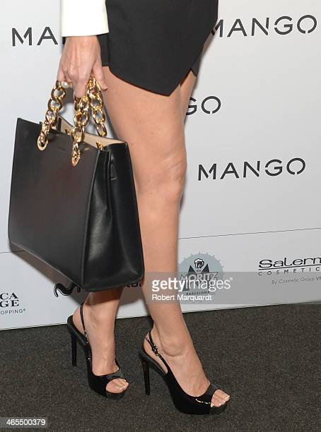 Paloma Lago poses during a photocall for the Mango Fashion show held at the Born Centre Cultural on January 27 2014 in Barcelona Spain