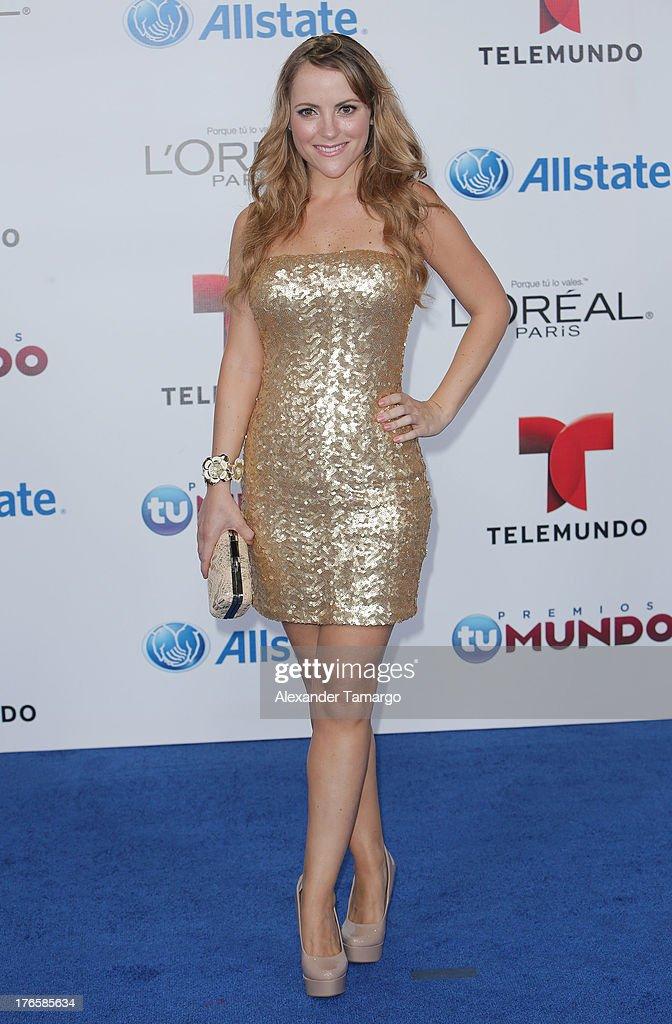 Paloma Marquez attends Telemundo's Premios Tu Mundo Awards at American Airlines Arena on August 15, 2013 in Miami, Florida.