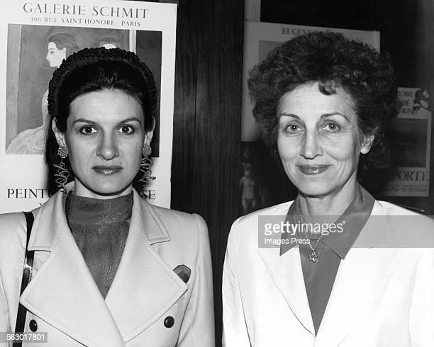 Paloma Picasso and mother Francoise Gilot circa 1982 in New York City