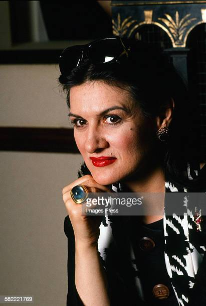 Paloma Picasso at home circa 1990 in New York City
