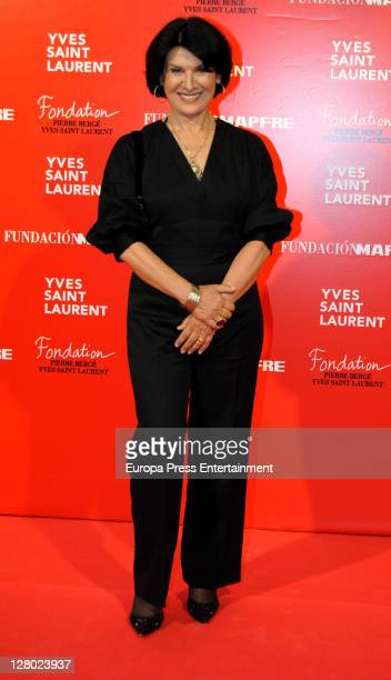 Paloma Picasso attends the opening of 'Yves Saint Laurent' exhibition on October 4 2011 in Madrid Spain