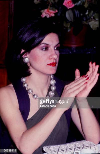 Paloma Picasso daughter of Pablo Picasso fashion and jewelry designer Madrid Spain
