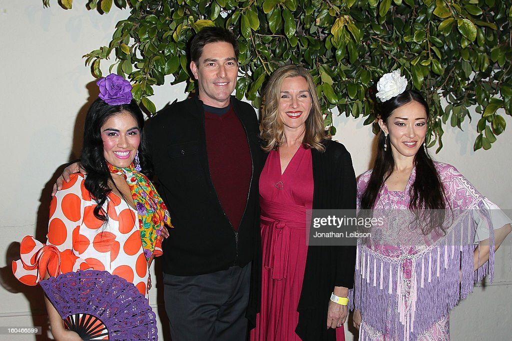 Paloma Rios, Roy Abramsohn, Betsy Gardner and Mizuho Sato attend the 'Kumpania: Flamenco Los Angeles' - Los Angeles Premiere - Arrivals at El Cid on January 31, 2013 in Los Angeles, California.