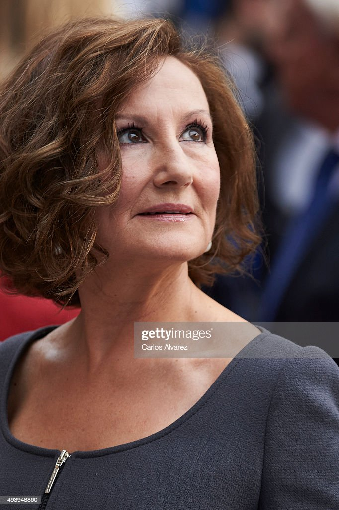 Paloma Rocasolano arrives to the Campoamor Theater for the Princess of Asturias Award 2015 ceremony on October 23 2015 in Oviedo Spain