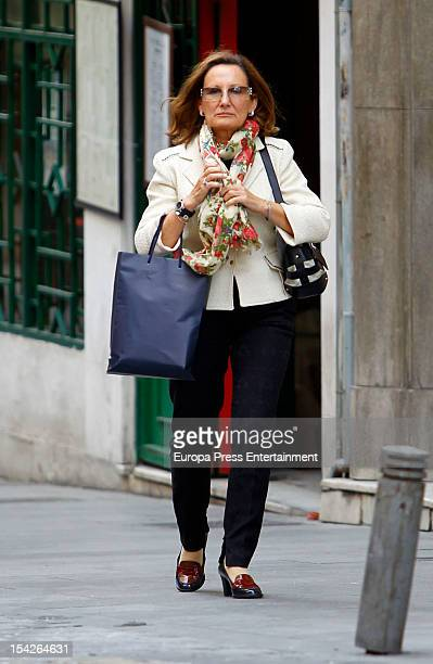 Paloma Rocasolano mother of Princess Letizia of Spain is seen on October 16 2012 in Madrid Spain