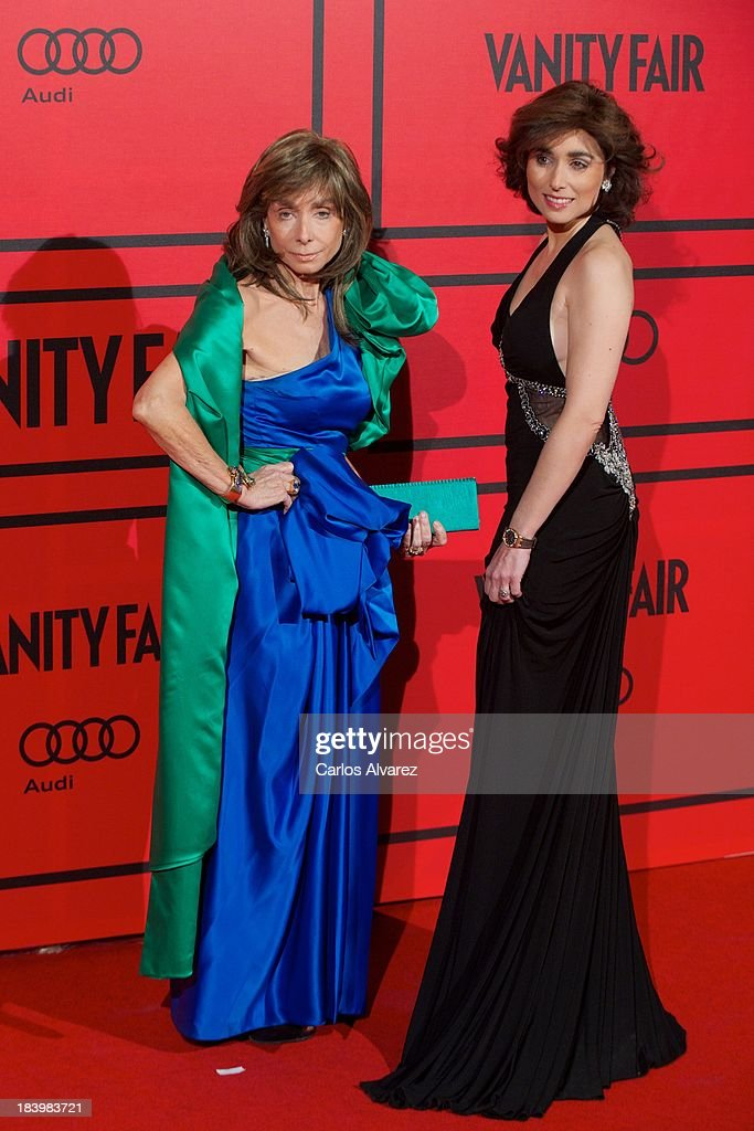 Paloma Segrelles (L) and daugther Paloma Segrelles Jr (R) attend the Vanity Fair 5th anniversary paty at the Santa Coloma Palace on October 10, 2013 in Madrid, Spain.