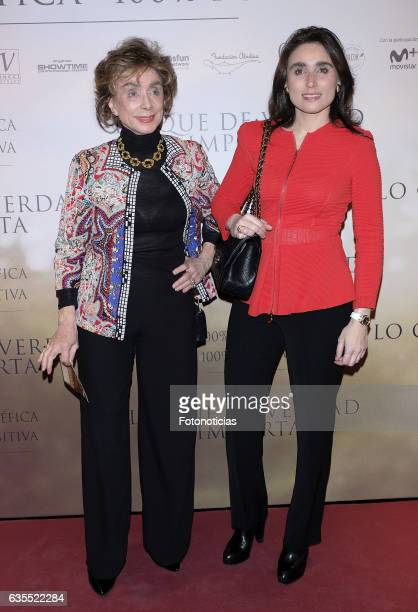 Paloma Segrelles and her daughter Paloma Segrelles attend the 'Lo Que De Verdad Importa' premiere at the Hotel Vincci Capitol on February 15 2017 in...