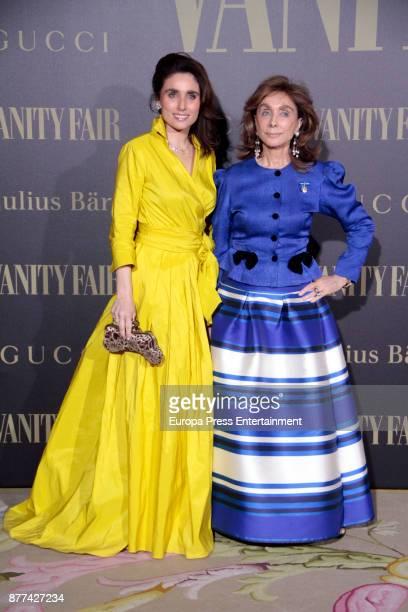 Paloma Segrelles and Paloma Segrelles jr attend the gala 'Vanity Fair Personality of the Year' to Garbine Muguruza at Ritz Hotel on November 21 2017...