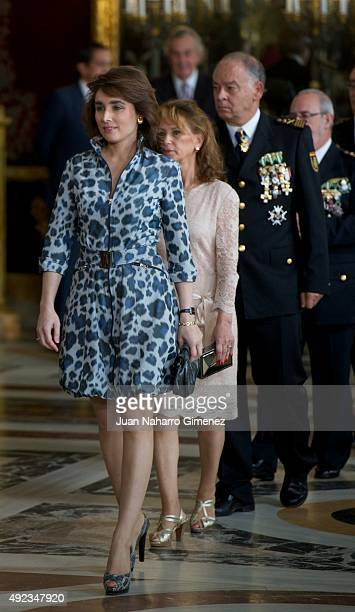 Paloma Segrelles attends Spain's National Day royal reception at Royal Palace in Madrid on October 12 2015 in Madrid Spain