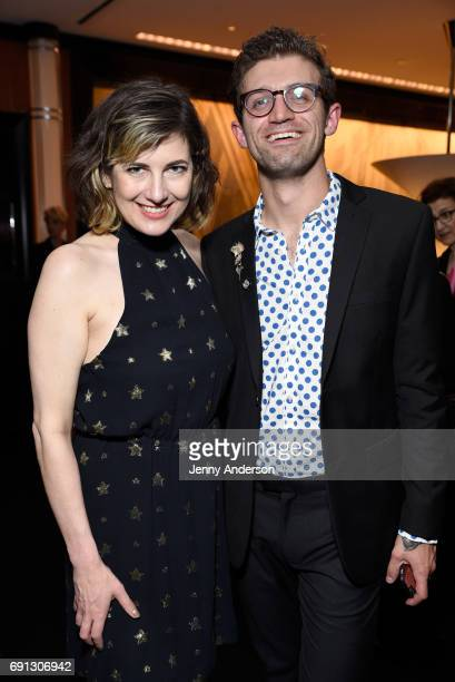 Paloma Young and Sam Pinkelton attend Designed To Celebrate A Toast To The 2017 Tony Awards Creative Arts Nominees at The Lamb's Club at the Chatwal...